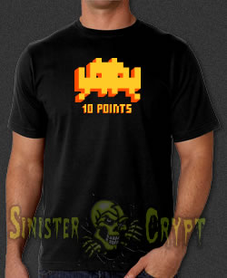 Space Invaders 10 Points Video Game t-shirt